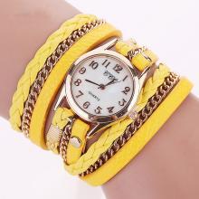 Leder Wickel-Armband-Uhr *Stilvoll*