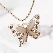 Schmetterling Strass Halskette