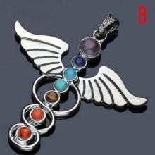 7 Perlen Charme Halskette Reiki☆Engel☆