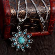 Antik Silber Halskette *Blume*