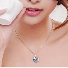 Zarte Kristall Herz-Halskette