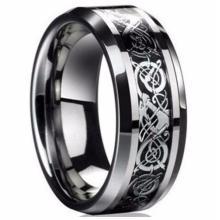 Eleganter Dragon Wolfram Ring