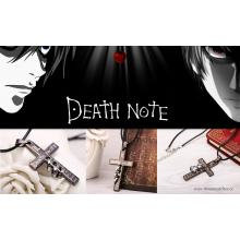 Death Note Anime Halskette mit Kreuz-Anhänger mit Gravur