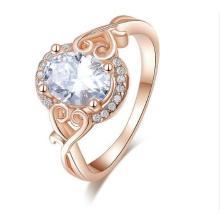 Reizender Herz-Ring 18 Karat Rose`gold Platin