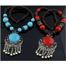 Boho Halskette im Afrikanischen Stil