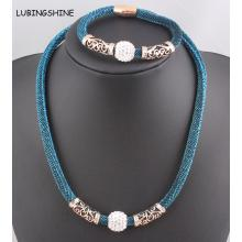 Shamballa Magnetverschluss Halskette & Armband Schmuck-Set