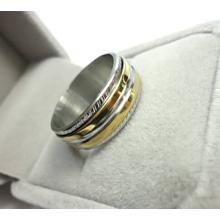 Drehbare Ringe *Silber-Gold-Style*