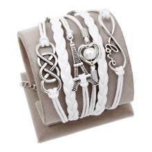 Charm Vintage Leder Motiv-Armbänder