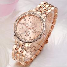 Damen Kristall Buisness-Uhr
