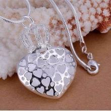 Kronen-Herz-Halskette 925 Sterling Silber