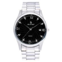 Edle Herren Quarz Armband-Uhr *Silber*