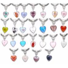 Herz Glasblumen Charme Anhänger *Beads*