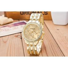 Funkelnde Buisness Armband-Uhr *GOLD*