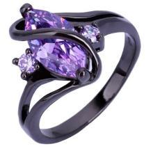 Schwarzer Saphir Cocktail Ring