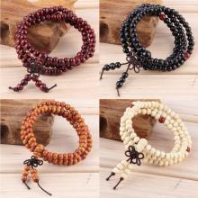 Buddhistisches Sandelholz Perlenarmband