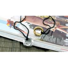 Love Halskette mit CZ Steinchen in Gold oder Silber