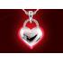 925 Sterling Silber Herz-Halskette inkl. Gravur & Zirkonia