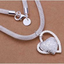 Herz-Halskette 925 Silber mit CZ